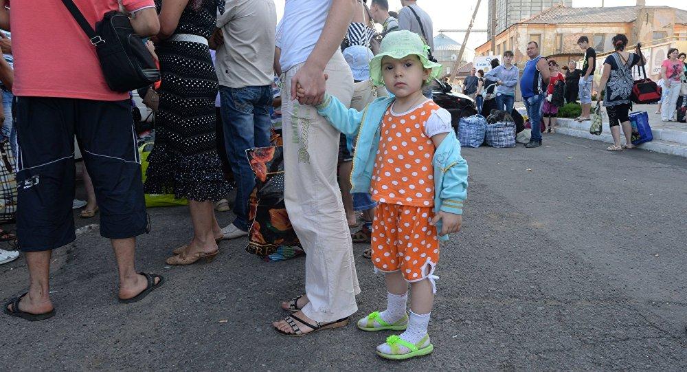 Ewakuacja mieszkańców Gorłówki po ostrzale moździerzowym