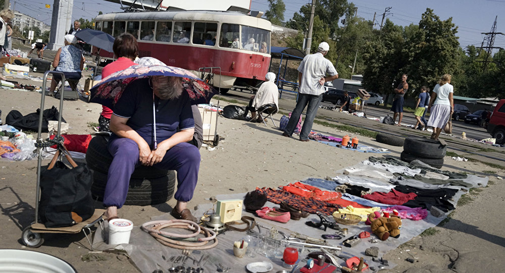 Kijów, pchli targ