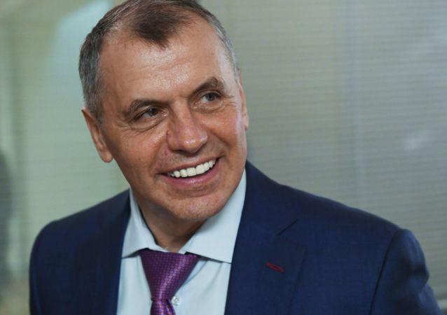Szef krymskiego parlamentu Władimir Konstantinow