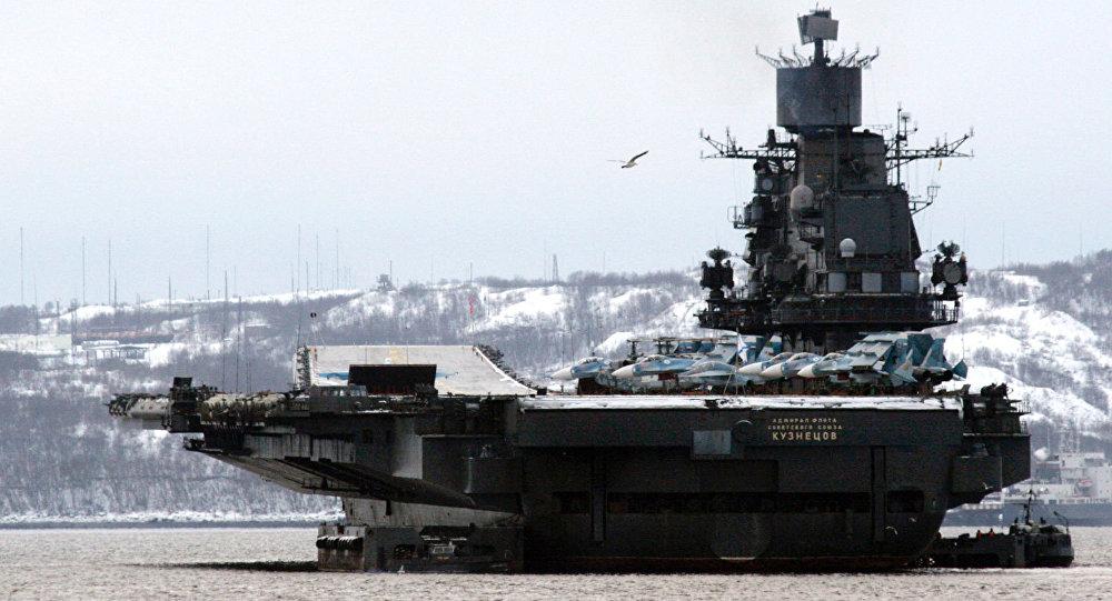 Rosyjski lotniskowiec Admirał Kuzniecow