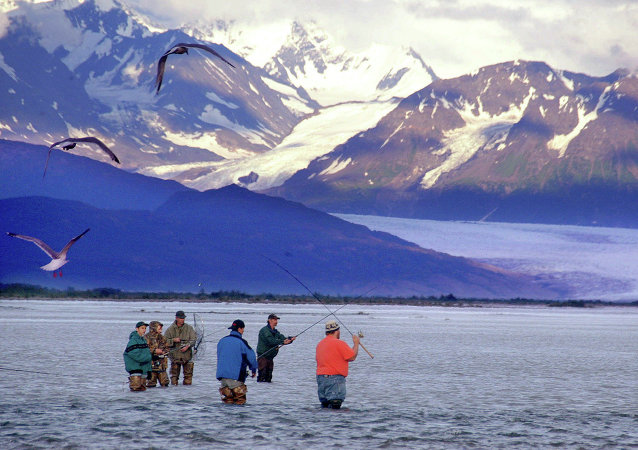 Stan Alaska, rzeka Knik River pod Palmerem