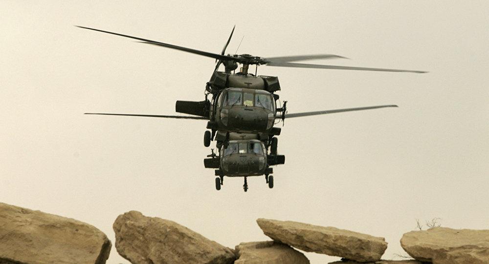 Amerykańskie śmigłowce Black Hawk w Mosulu, Irak