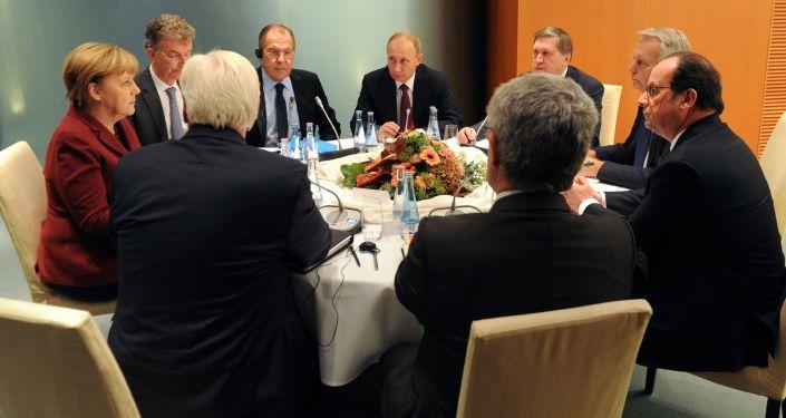 Spotkanie liderów czwórki normandzkiej w Berlinie