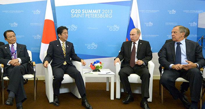 Spotkanie Władimira Putina z Shinzo Abe