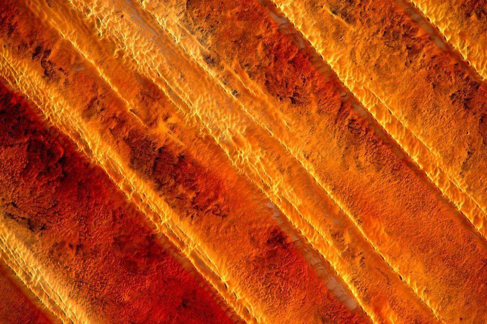 Zdjęcie Afryki wykonane przez astronautę Scott'a Kelly'ego z Międzynarodowej Stacji Kosmicznej.