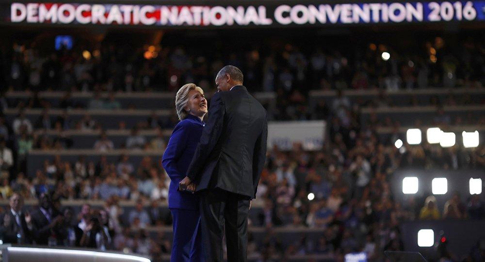 Prezydent USA Barack Obama i kandydatka na prezydenta z ramienia Partii Demokratycznej Hillary Clinton