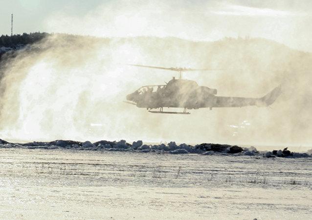 Helikopter Korpusu Piechoty Morskiej USA AH-1W Super Cobra w Vaernes, Norwegia