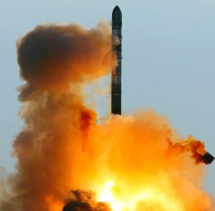 Wystrzelenie rosyjskiej rakiety RS-20