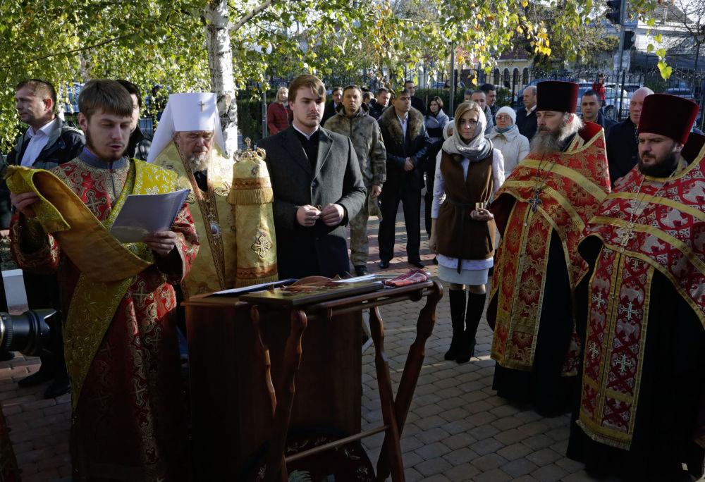 Obrzęd poświęcenia odprawił metropolita symferopolski i krymski Łazarz.