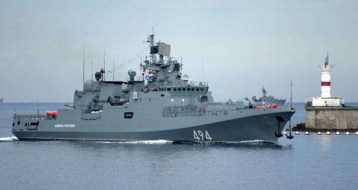 """Rosyjska fregata """"Admirał Grigorowicz"""""""