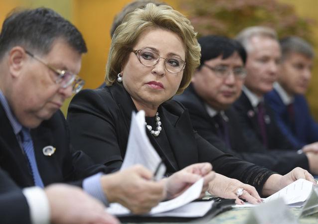 Przewodnicząca Rady Federacji Rosji Walentyna Matwijenko podczas wizyty w Japonii