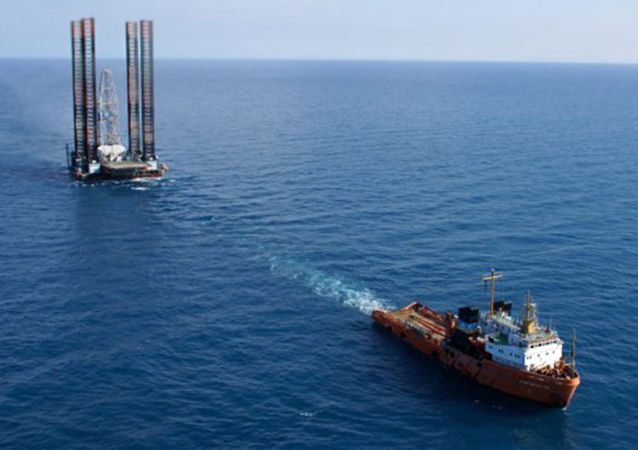 Transportowanie wiertni Tawrida na Morzu Czarnym