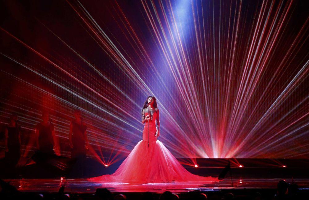 Piosenkarka Aminata z piosenką  Love Injected reprezentują Łotwę