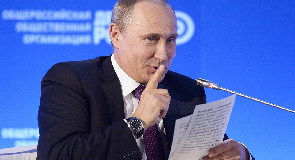 Prezydent Rosji Władimir Putin na forum biznesowym Biznesowa Rosja