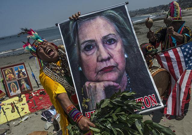 Szamani z Limy odprawiają rytuały w związku z wyborami w USA