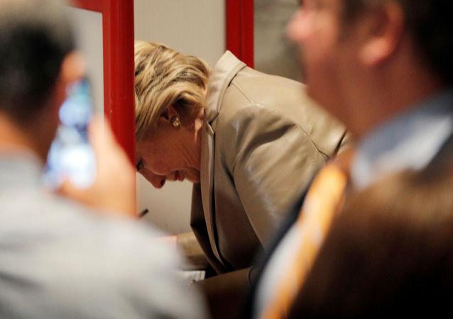 Hillary Clinton głosuje na wyborach w Nowym Jorku