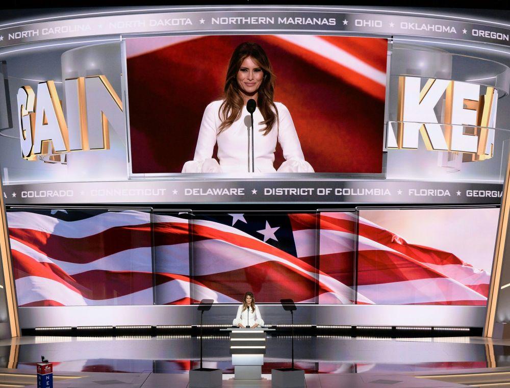 Przemówienie Melanii Trump było głównym wydarzeniem na Narodowej Konwencji Republikanów w Cleveland.