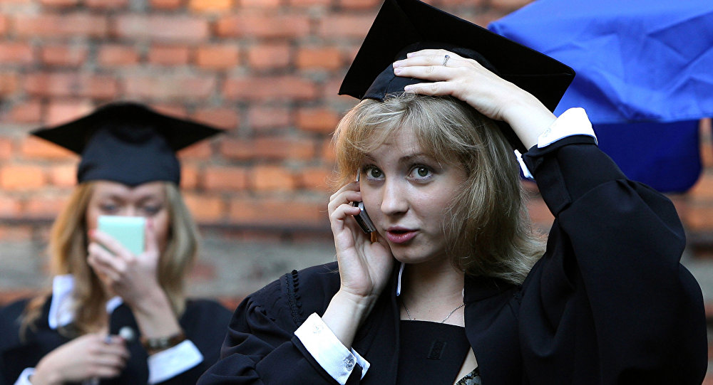 Wręczenie dyplomów absolwentom Moskiewskiego Państwowego Uniwersytetu Lingwistycznego