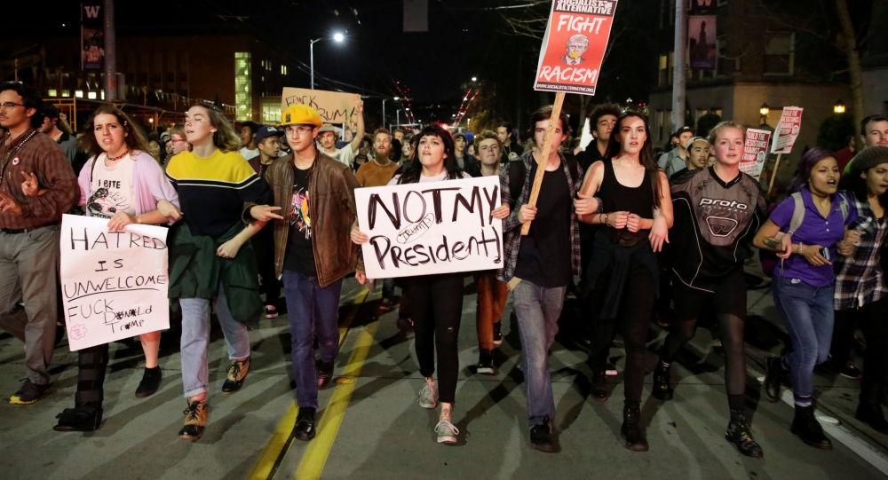 Waszyngton. Akcja protestu przeciwko Donaldowi Trumpowi