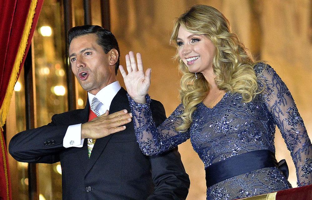 Prezydent Meksyku Enrique Pena Nieto i jego żona Angelica Rivera