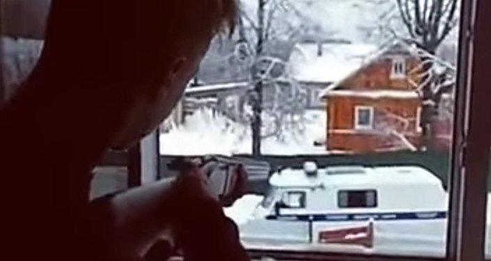 Para nastolatków z Pskowa ostrzelała policjantów i popełniła samobójstwo