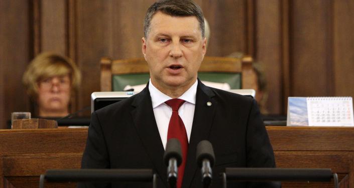 Prezydent Łotwy Raimonds Vējonis