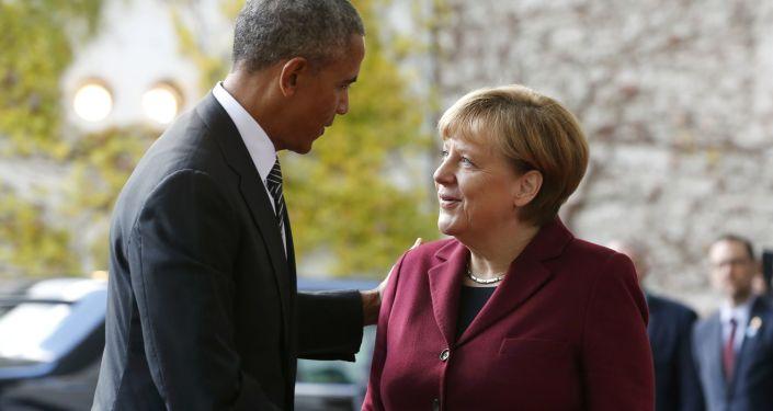 Prezydent USA Barack Obama i kanclerz Niemiec Angela Merkel