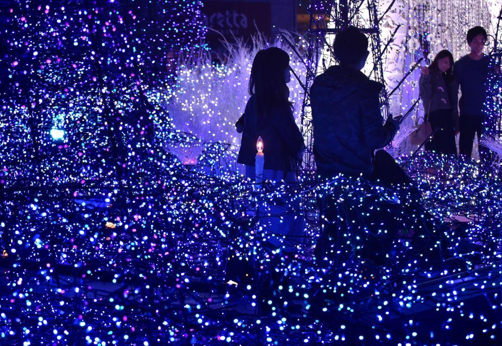 Świąteczna iluminacja w Tokio