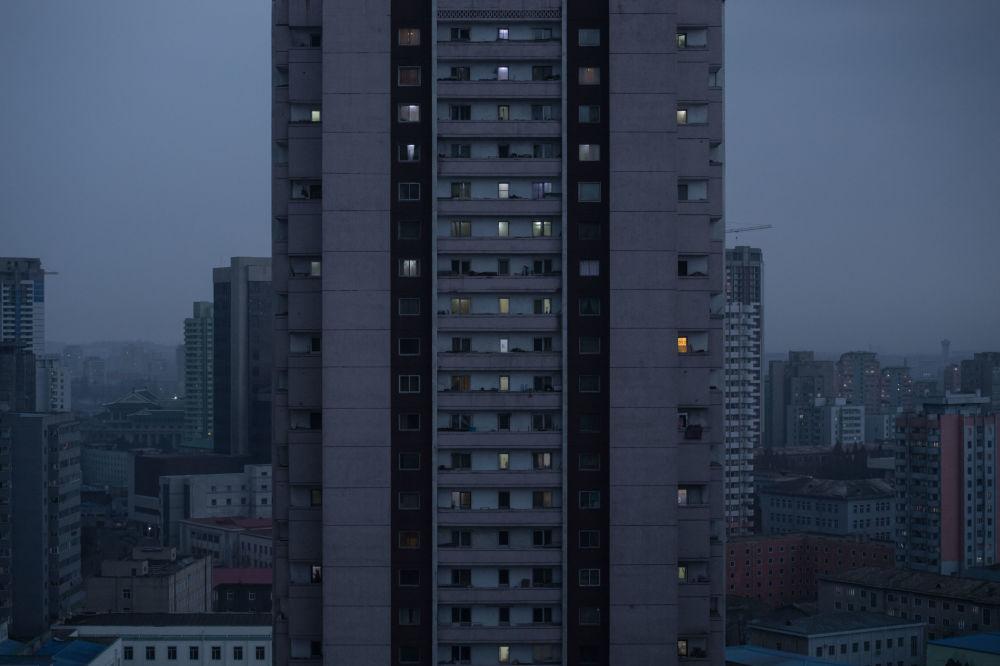 Wieżowce w Pjongjangu