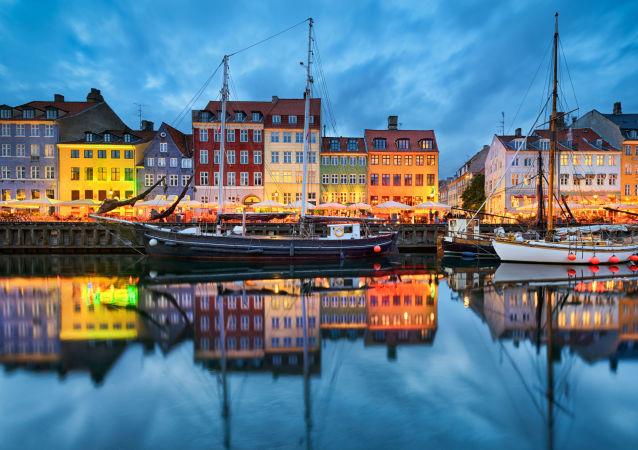 Kopenhaga wieczorem