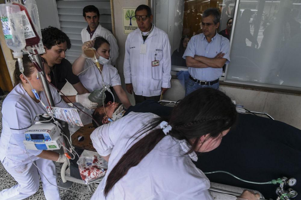 Ocalały z katastrofy lotniczej brazylijski piłkarz Helio Neto w szpitalu.