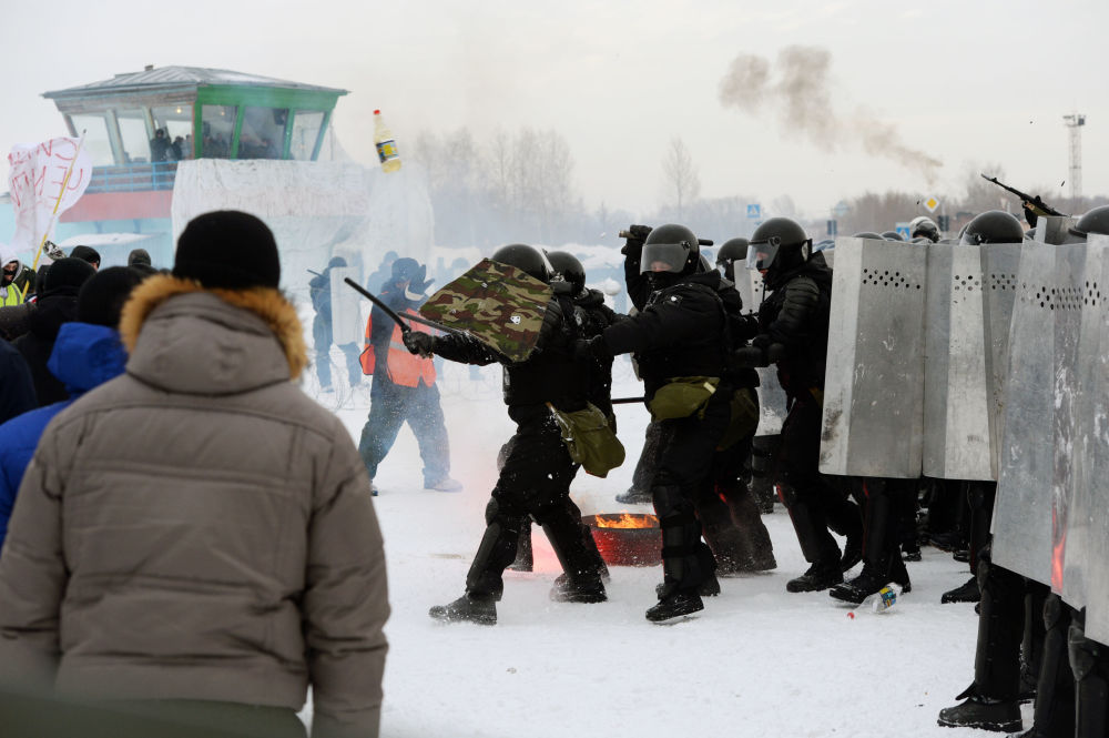 W Nowosybirsku odbyły się ćwiczenia Rosyjskiej Gwardii Narodowej zorientowane na zapobieganie masowym zamieszkom.