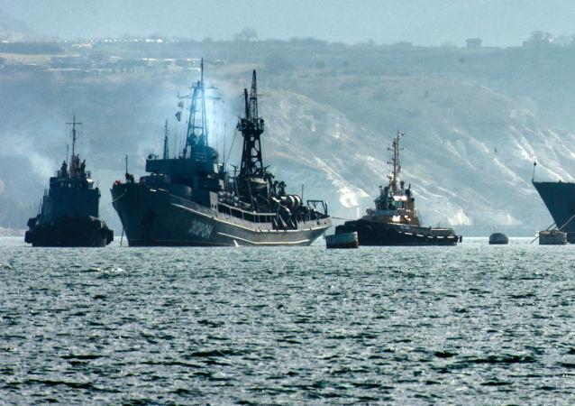 Okręty rosyjskiej Floty Czarnomorskiej w Sewastopolu