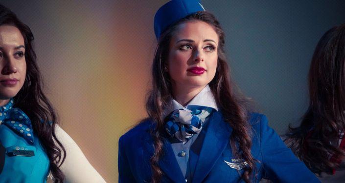 Najpiękniejsza stewardessa Rosji 26-letnia Anna Gurina z Krasnojarska