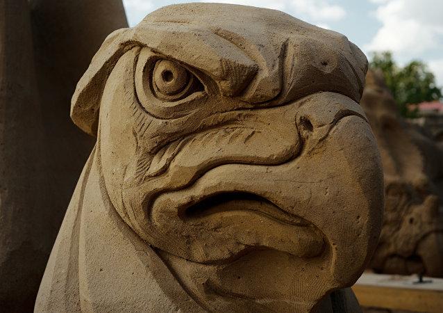 Jastrząb. Festiwal rzeźb piaskowych w Petersburgu