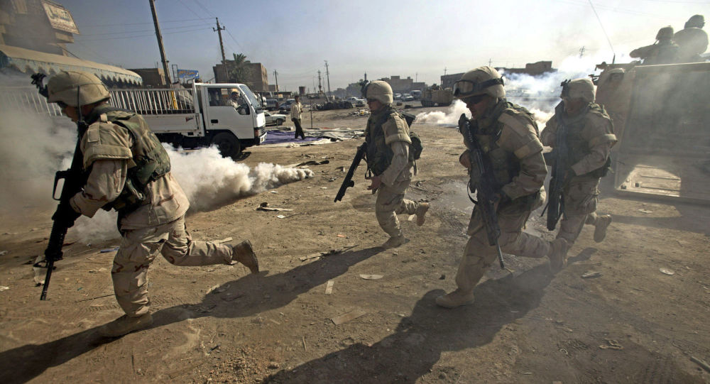 Amerykańscy żołnierze podczas operacji wojskowej w Iraku