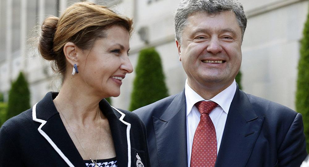 Petro Poroszenko z żoną Maryną