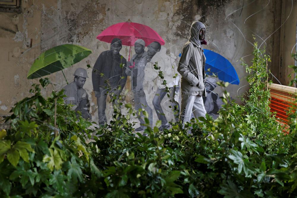 Centrum przyjmowania uchodźców w Paryżu
