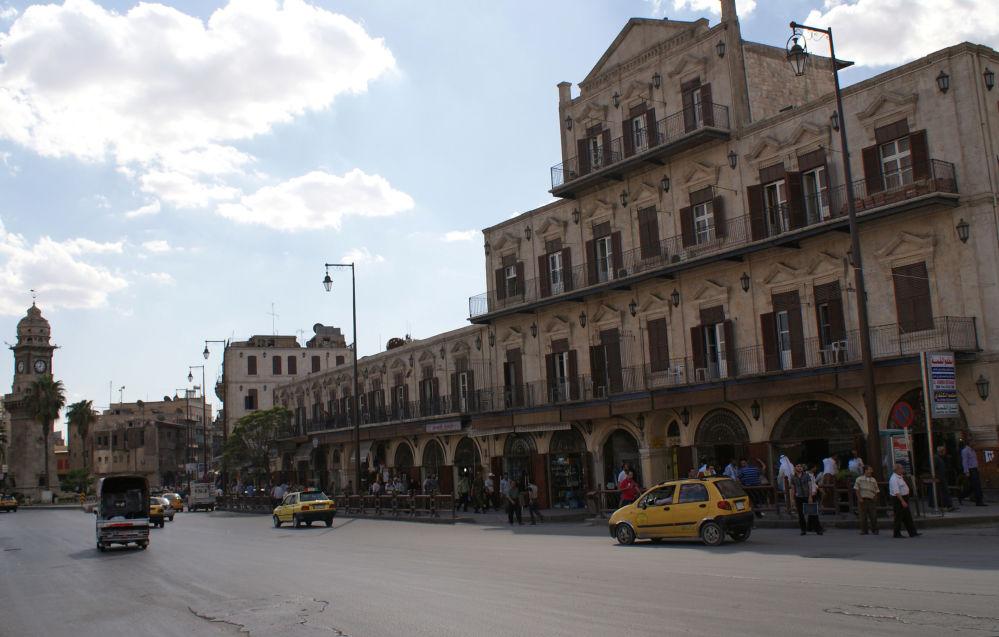 Wieża Bab al-Faraj w Starym Mieście w Aleppo w 2010 roku
