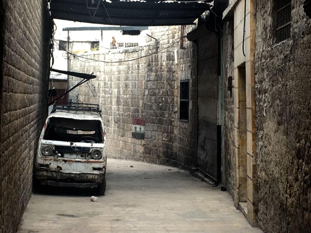 Stara część Aleppo w 2016 roku