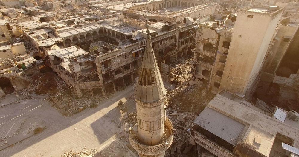 Wschodnie kwartały Aleppo w 2016 roku