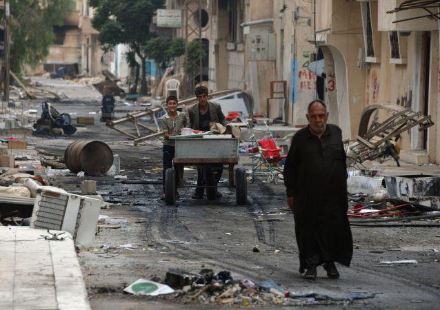 Ludzie na ulicach Palmiry