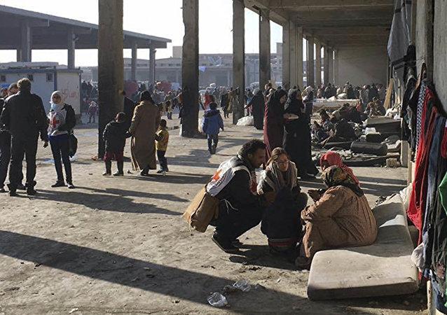 Cywile wyprowadzeni ze wschodniego Aleppo, 12 grudnia 2016