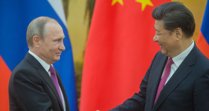 Prezydent Rosji Władimir Putin i prezydent Chin Xi Jinping w Pekinie