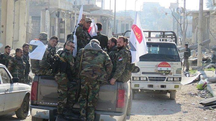 Syryjska armia w Aleppo.