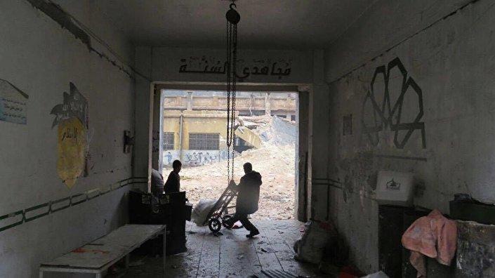 Sytuacja we wschodnim Aleppo.