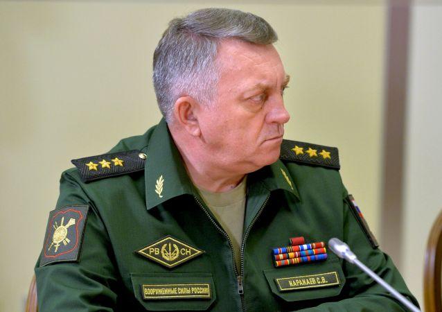 Dowódca Wojsk Rakietowych Strategicznego Przeznaczenia Rosji generał-pułkownik Siergiej Karakajew