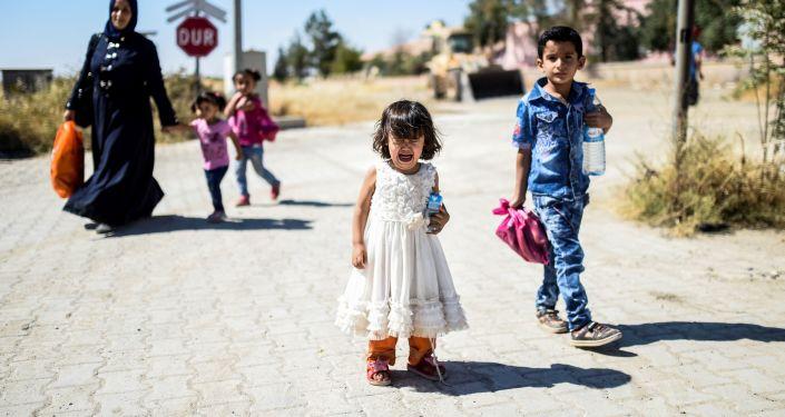 Kilkuletnia dziewczynka wysadziła się w komisariacie w Damaszku