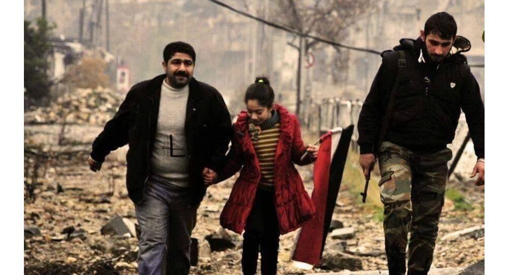 Cywile uratowani przez syryjską armię w Aleppo