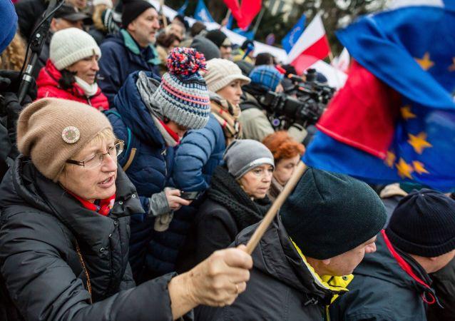 Demonstracje pod budynkiem Sejmu, 17 grudnia 2016